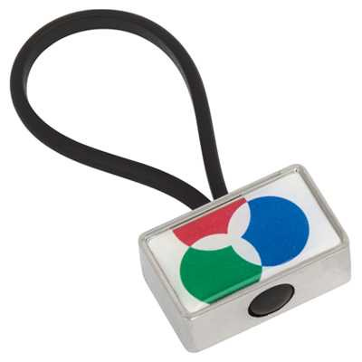 Picture of Globus Keyring Metal Rectangle - Indent