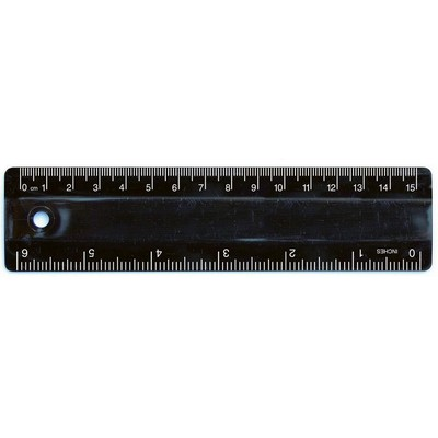 Picture of Ruler 15cm Black