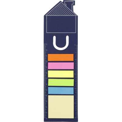 Picture of House shaped bookmark and sticky notes.