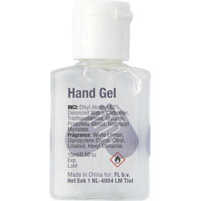 Picture of 15ml Hand sanitizer gel.