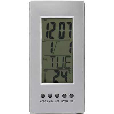 Frame Promotional Products Desk Clock With Thermometer