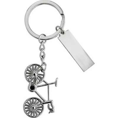 Picture of Nickel plated keychain.