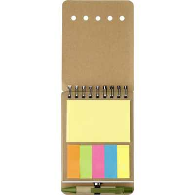 Picture of Wire bound notebook with sticky notes