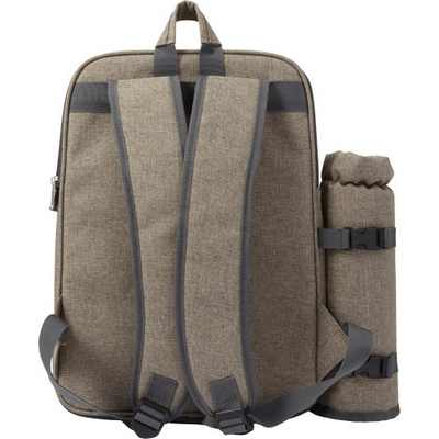 Picture of Polyester (600D) picnic rucksack with ex
