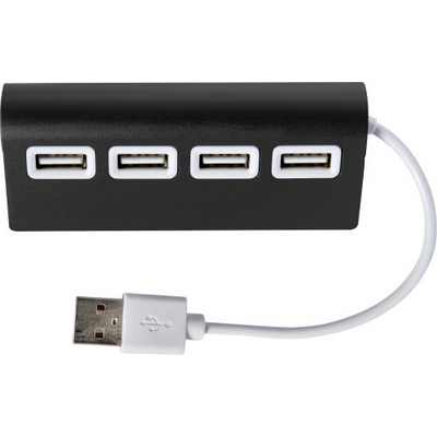 Picture of Aluminium USB hub with 4 ports.