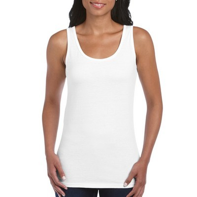 Picture of Gildan Softstyle Ladies Tank Top White