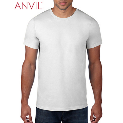 Picture of Anvil Adult Black Tee White