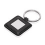 Leather-Look / Metal Square Keyring