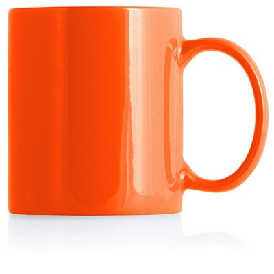 Picture of Ceramic Mug Can White Inner/Orange Outer