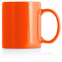 Ceramic Mug Can White Inner/Orange Outer