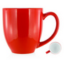 Deauville Ceramic Mug White Inner/Red Ou