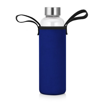 Picture of 600mL Glass Drink Bottle w/Neoprene Slee