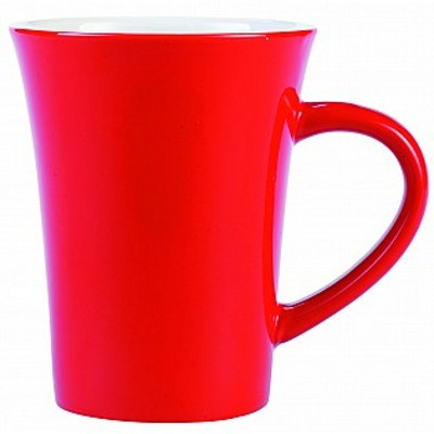 Picture of Colonial Ceramic Stoneware Mugs - red/wh