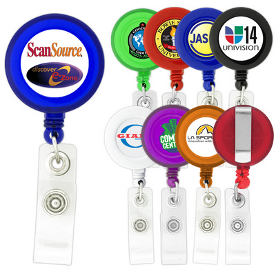 Picture of Round-Shaped Retractable Badge Holder