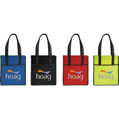 Picture of Printed Chevron Non-Woven  Shopper Tote