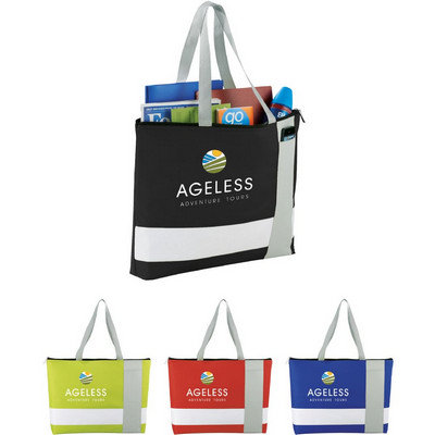 Picture of Tri Block Zippered Business Tote