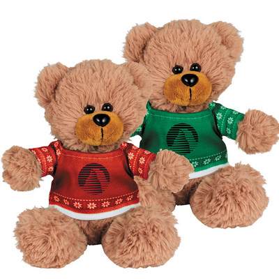 "Picture of Ugly Sweater 6"" Sitting Bear"