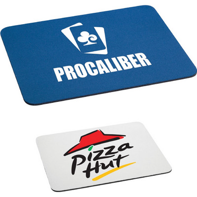 """Picture of 1/8"""" Rectangular Rubber Mouse Pad"""
