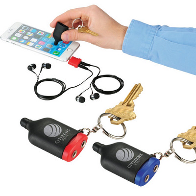 Picture of 2-in-1 Music Splitter Keychain/Stylus