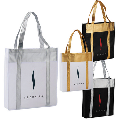 Picture of Metallic Non-Woven Shopper Tote