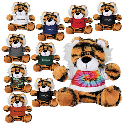 "Picture of 6"" Tiger Plush Animal with Shirt"