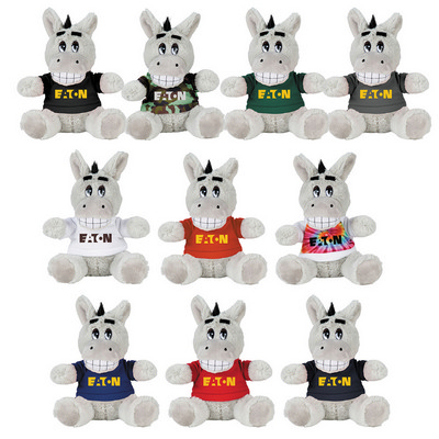 "Picture of 6"" Plush Donkey with Shirt"