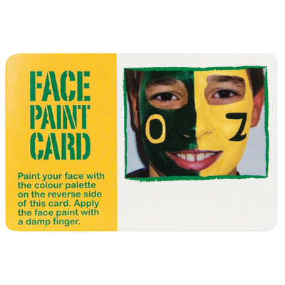 Picture of Face paint card