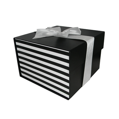 Picture of Small Flat Pack Gift Box with Ribbon