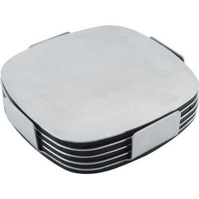 Picture of Executive stainless steel coaster set