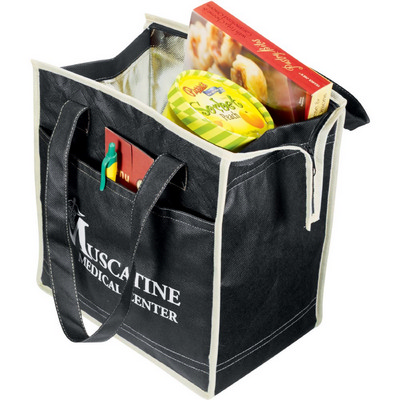 Picture of Quilted Insulated Non-Woven Tote