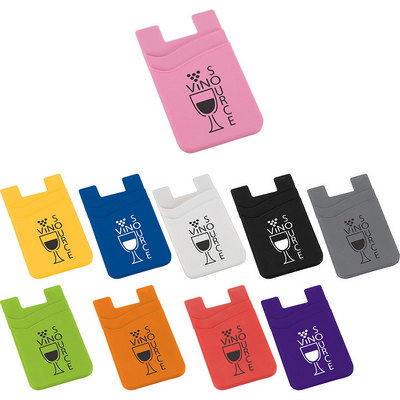 Picture of Dual Pocket Slim Silicone Phone Wallet