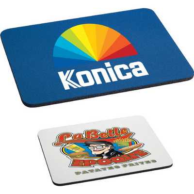 """Picture of 1/4"""" Rectangular Rubber Mouse Pad"""