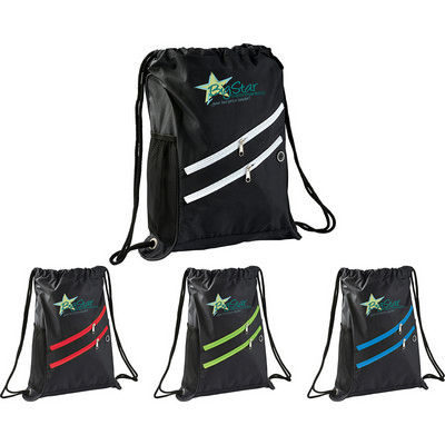Picture of Two Zipper Deluxe Drawstring Sportspack