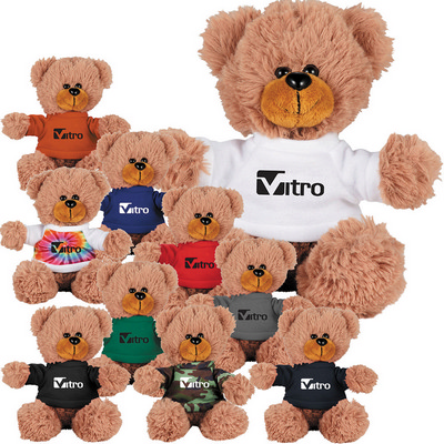 Picture of 6'' Sitting Plush Bear with Shirt