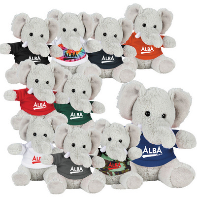 "Picture of 6"" Plush Elephant with Shirt"