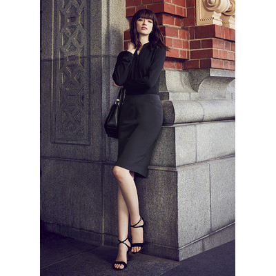 Picture of Ladies Bandless Pencil Skirt