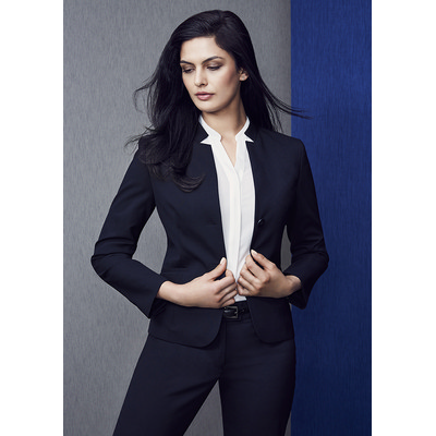 Picture of Ladies Short Jacket with Reverse Lapel