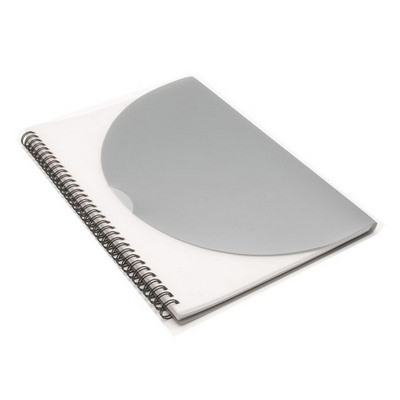 Picture of Curve Notepad - Large - Silver