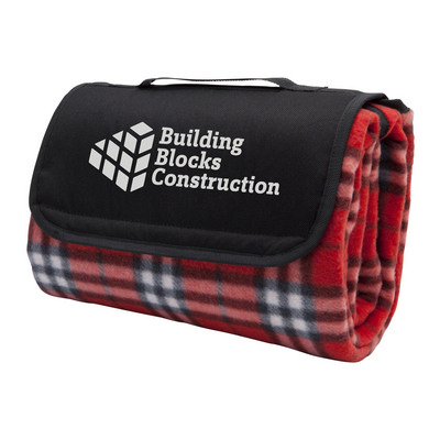 Picture of Antigua Picnic Rug, Red Check