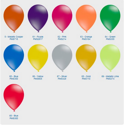 "Picture of Metallic Balloon - 11"" (28cm)"