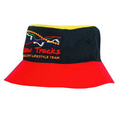 Picture of Tri Colour Breathable P/T Bucket Hat