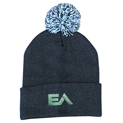 Picture of Knitted Acrylic Beanie with Pom Pom