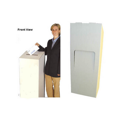 Picture of Cardboard Ballot Box White Floor StandingBallot Box, Ceremonies