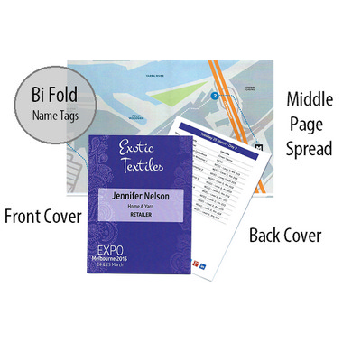 Picture of Bi Fold Name Tag Personalised Program