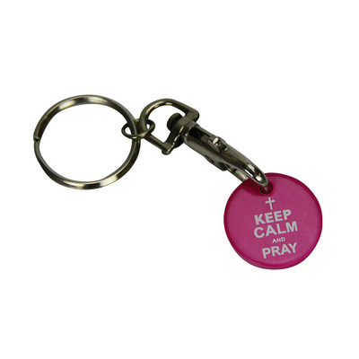Picture of Trolley Coin Keyring INDENT