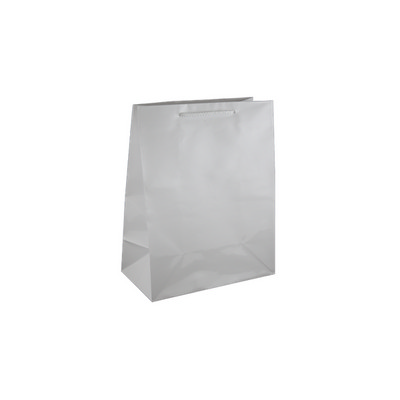 Picture of Medium White Gloss Laminated Paper Bag P