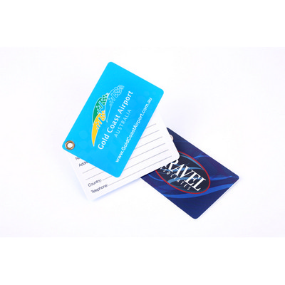 Picture of Plastic Luggage Tag CreditCard Style wit