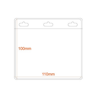Picture of Medium Horizontal Badge Holder - 3 Slots