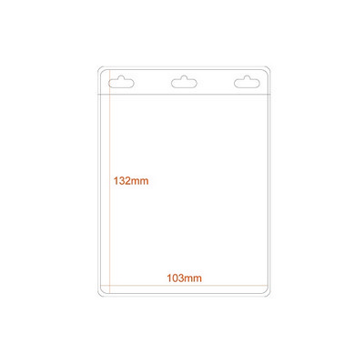 Picture of Large Portrait Flexible Badge Holder Pri