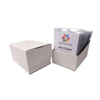 Picture of Large Disposable Name Tag Box